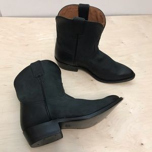 Frye Western Billy Short Ankle Boots Black Sz 9